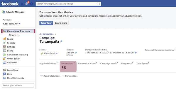 Conversions in Facebook Ads