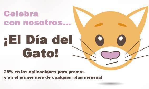 Celebra con nosotros El Día del Gato - 25% de descuento