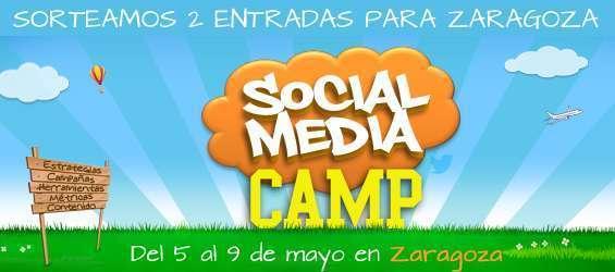 Sorteo de 2 entradas para el Social Media Camp en Zaragoza