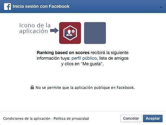 Icono de la aplicación creada en Facebook Developers