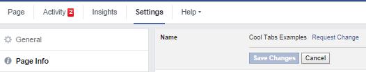 Cambiar el nombre de una fan page