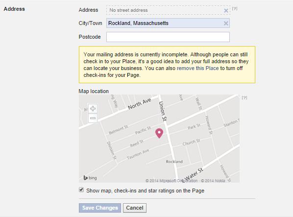 Mapa Facebook