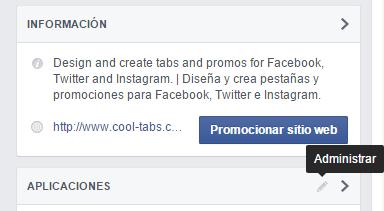 Administrar secciones de tu fan page