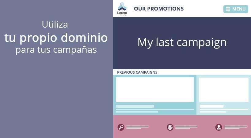 Consigue un site de dominio propio con todas tus campañas