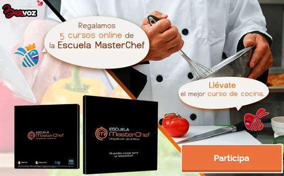 Gana 5 cursos online de la Escuela Masterchef