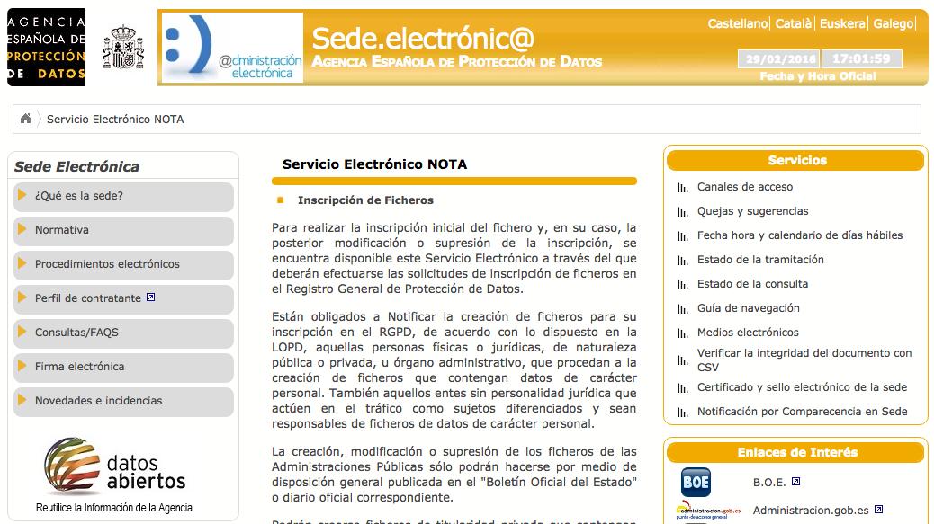 Servicio Electrónico NOTA