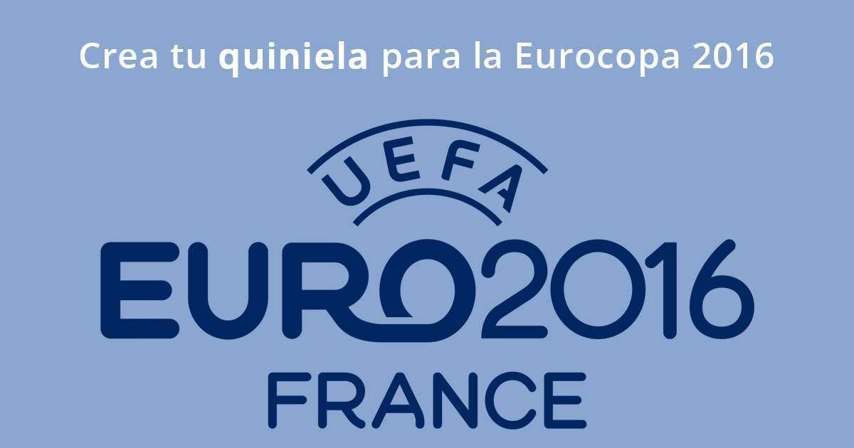 Crea tu quiniela para la Eurocopa 2016