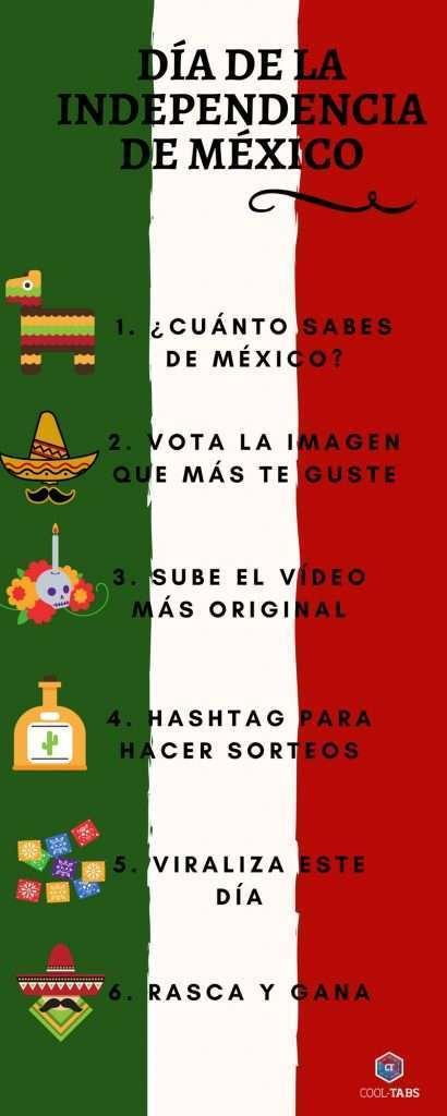Infografía para el día de la independencia en México